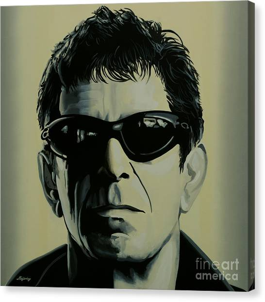 Rhythm Canvas Print - Lou Reed Painting by Paul Meijering