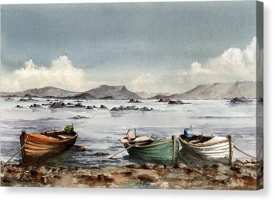 Lough Mask  Mayo Canvas Print