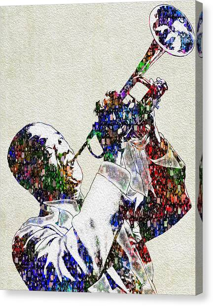 Trumpeters Canvas Print - Louie Armstrong 2 by Jack Zulli