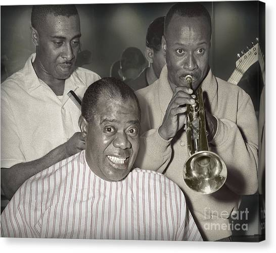 Louie Armstrong Haircut 1961 Canvas Print
