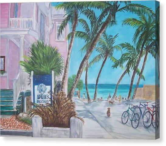 Coconut Canvas Print - Louie's Backyard by Linda Cabrera