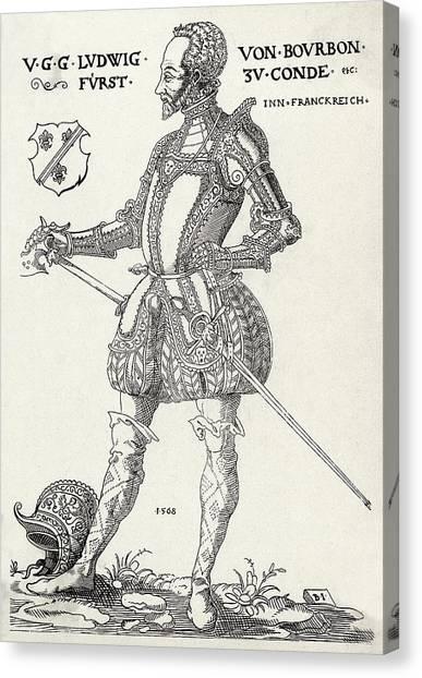 Louis I De Bourbon 1st Prince De Conde Canvas Print by Mary Evans Picture Library