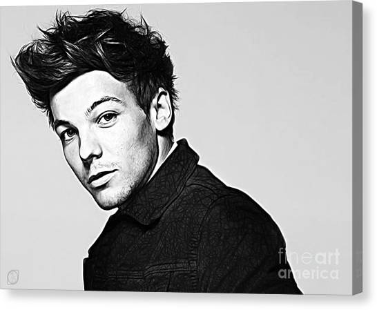 One Direction Canvas Print - Louis Tomlinson by The DigArtisT