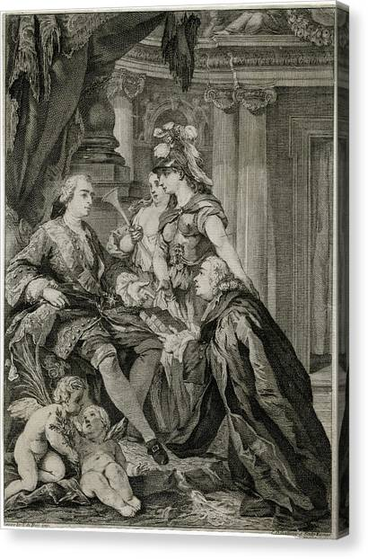 Louis Xv             Accepts Canvas Print by Mary Evans Picture Library