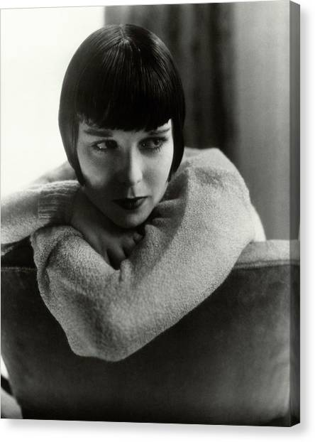Personality Canvas Print - Louise Brooks On A Chair by Edward Steichen