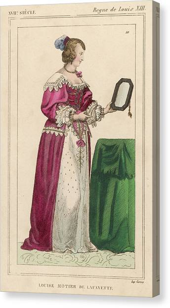 Louise Mottier De La Fayette  French Canvas Print by Mary Evans Picture Library