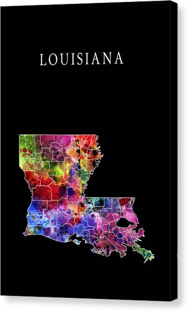 Gumbo Canvas Print - Louisiana State by Daniel Hagerman