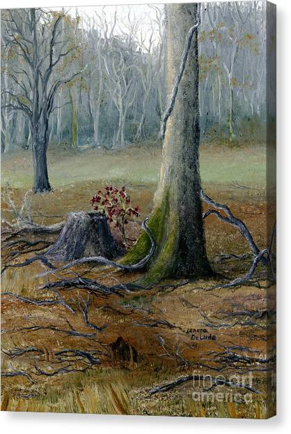 Louisiana Winter Landscape From An Oil Painting Canvas Print