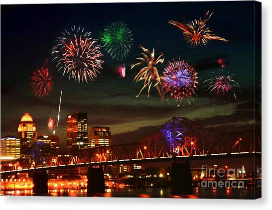 Louisville Kentucky Celebration Canvas Print