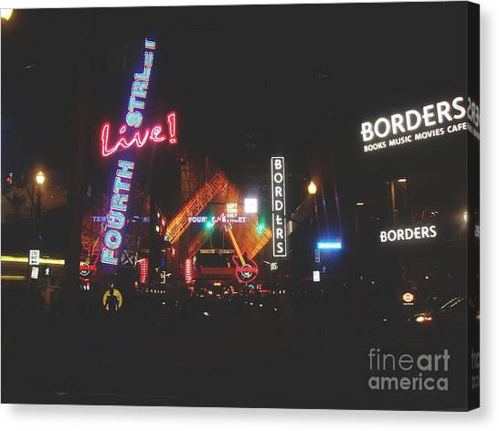 Louisville Kentucky Misty Nights Canvas Print