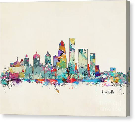 Kentucky Canvas Print - Louisville Kentucky Skyline by Bri Buckley