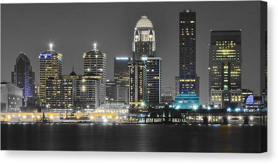Mammoth Cave Canvas Print - Louisville Lights Up by Frozen in Time Fine Art Photography