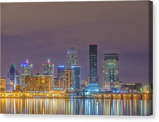 University Of Louisville Canvas Print - Louisville Skyline 3 Dsc1984 by David Haskett II