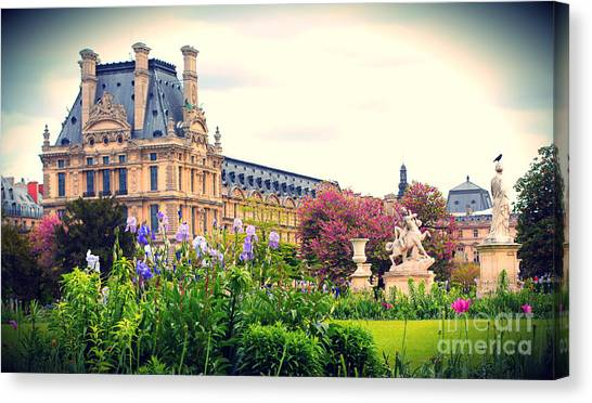 Le Louvre Canvas Print - Louvre And Tuileries Gardens by Heidi Hermes