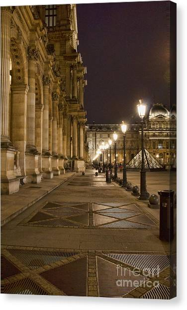 Louvre Courtyard Canvas Print