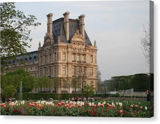 Le Louvre Canvas Print - Louvre Museum by Jennifer Ancker