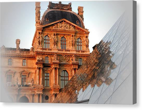 Louvre And Pei Canvas Print by Jacqueline M Lewis