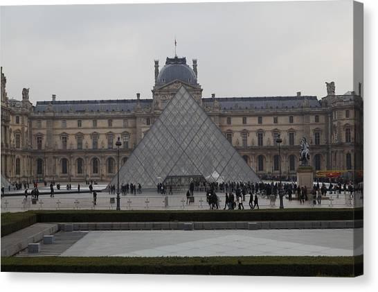 Le Louvre Canvas Print - Louvre - Paris France - 011310 by DC Photographer