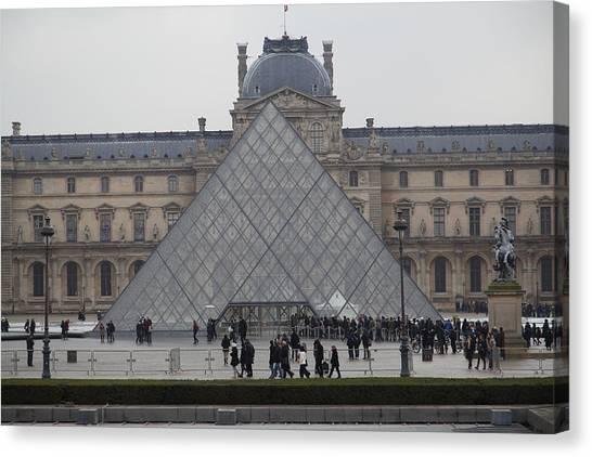 Le Louvre Canvas Print - Louvre - Paris France - 011311 by DC Photographer