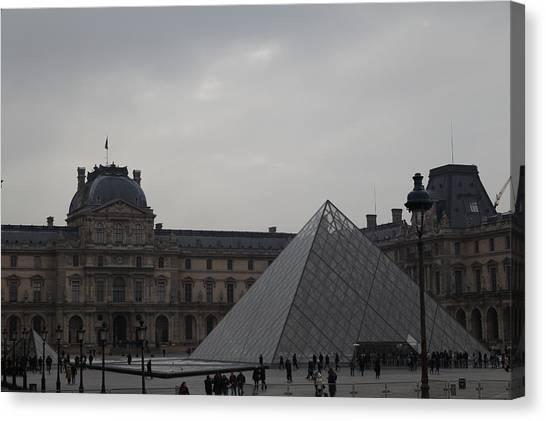 Le Louvre Canvas Print - Louvre - Paris France - 01135 by DC Photographer
