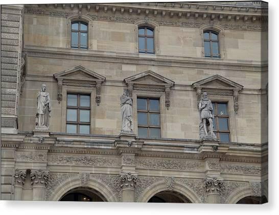 Le Louvre Canvas Print - Louvre - Paris France - 01137 by DC Photographer