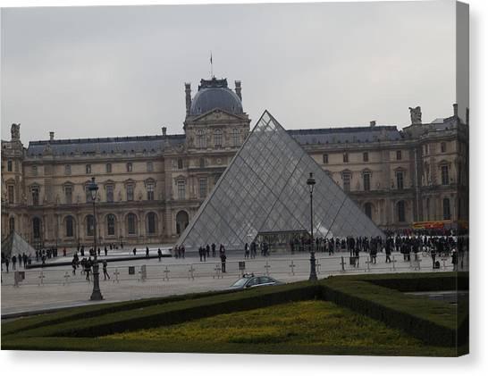 Le Louvre Canvas Print - Louvre - Paris France - 01138 by DC Photographer