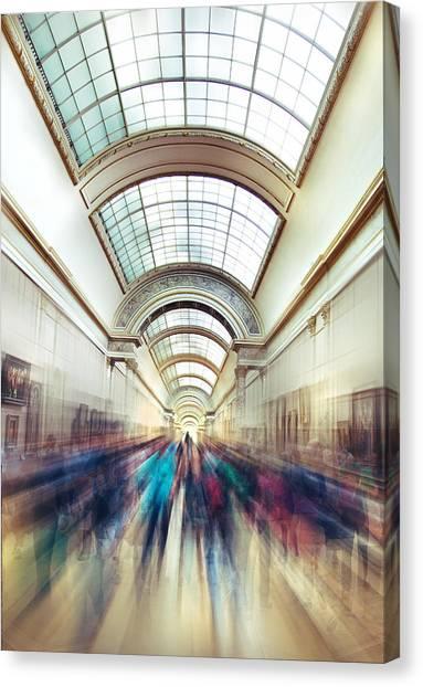 The Louvre Canvas Print - Louvre Rush by Ivan Vukelic
