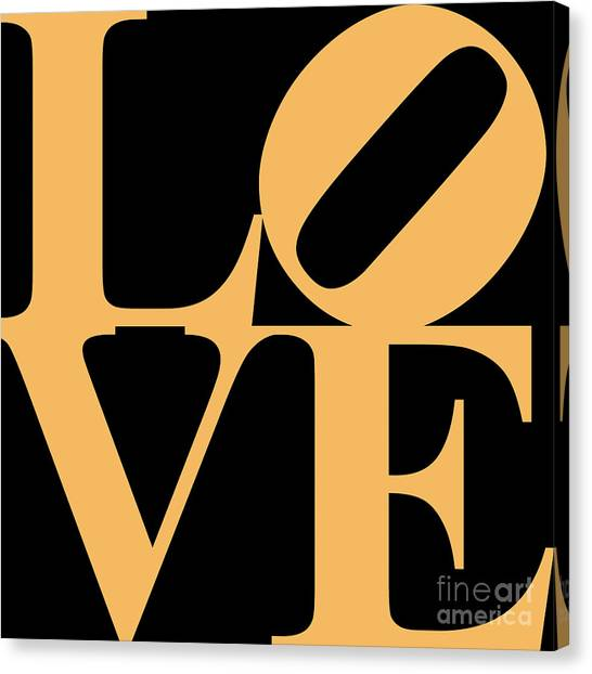 Love 20130707 Orange Black Canvas Print by Wingsdomain Art and Photography