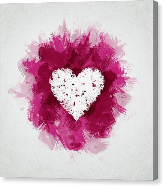 Hearts Canvas Print - Love by Aged Pixel