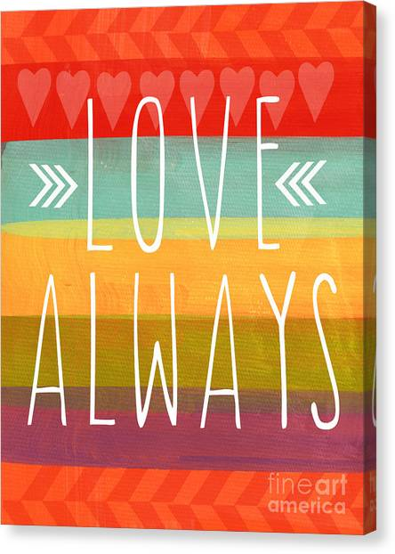 Valentines Day Canvas Print - Love Always by Linda Woods