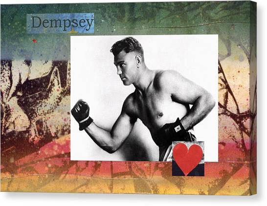 Love And War Dempsey Canvas Print