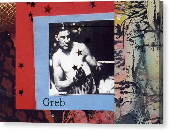 Love And War Greb Canvas Print