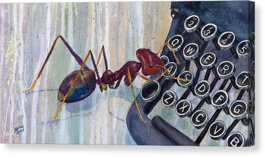 A Is For Ant Canvas Print