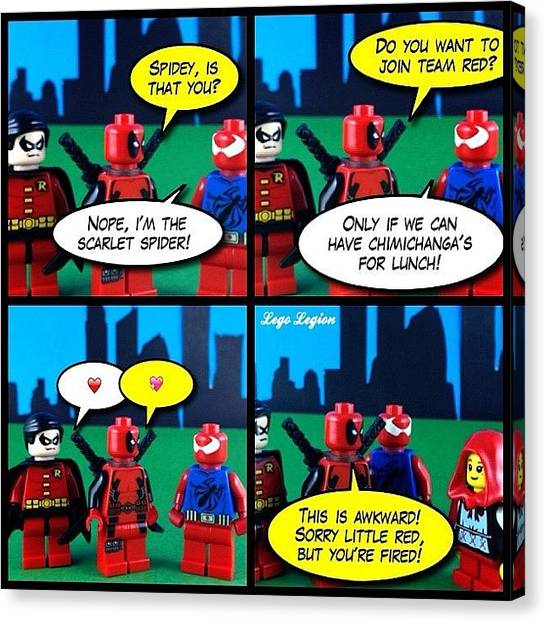 Robins Canvas Print - Love At First Mention Of Chimichanga's by Lego Legion