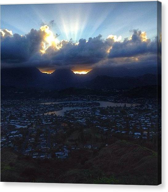 Hawaii Canvas Print - Love Being Able To Get Out For A by Brian Governale