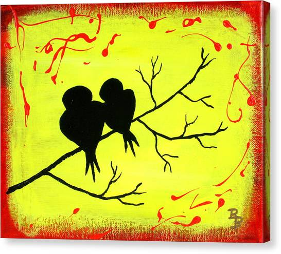 Love Birds Art Canvas Print