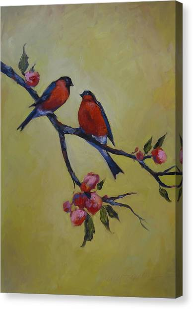 Love Birds Canvas Print by Kelley Smith