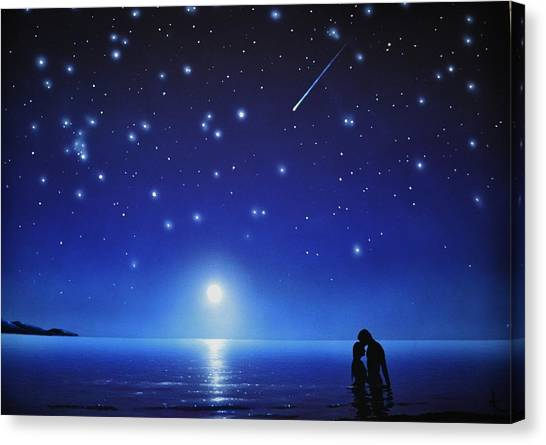 Love By Moonlight Canvas Print