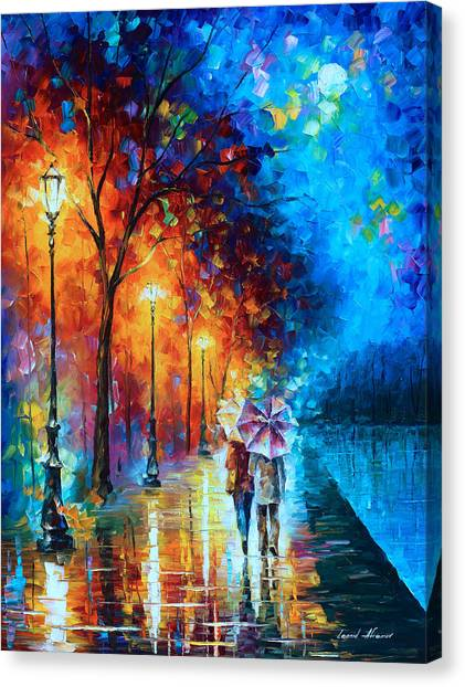Experimental Canvas Print - Love By The Lake by Leonid Afremov