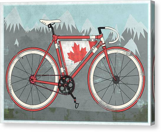 Bicycle Canvas Print - Love Canada Bike by Andy Scullion