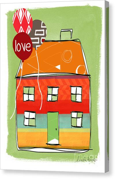 Celebration Canvas Print - Love Card by Linda Woods