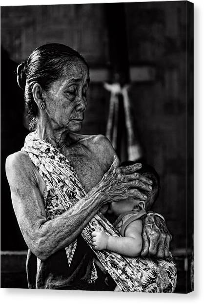 Grandma Canvas Print - Love For My Grandson by Ari Widodo