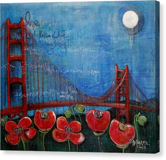 Love For San Francisco Canvas Print