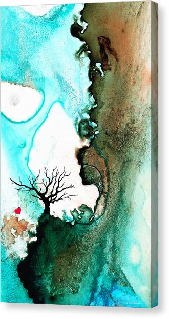 Engagement Canvas Print - Love Has No Fear - Art By Sharon Cummings by Sharon Cummings