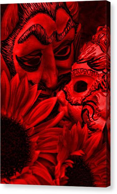 Love In Hell Canvas Print