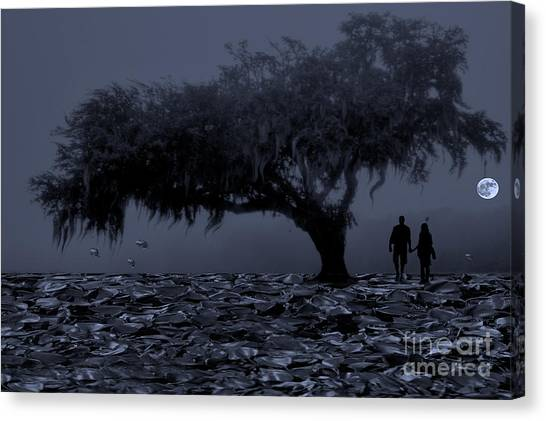 Love In Moon Light Canvas Print