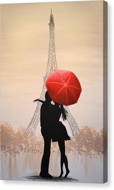 Love In Paris Canvas Print