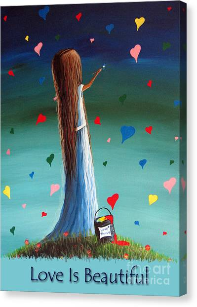 Love Is Beautiful By Shawna Erback Canvas Print by Artisan Parlour