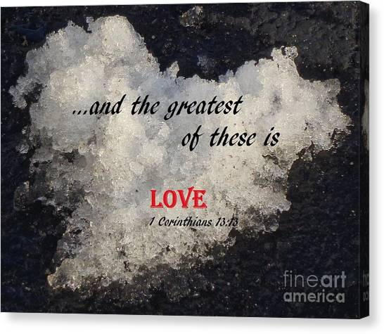 Love Is Great Canvas Print