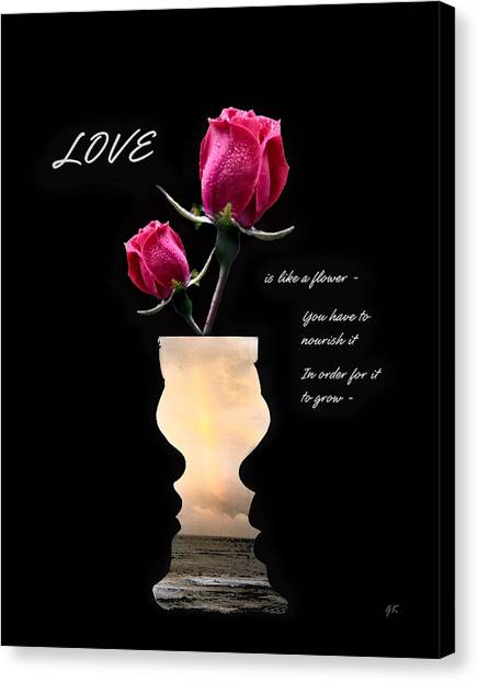Love Is Like A Flower Canvas Print